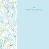 Mavi bambu dalları kare sorunsuz arka plan — Stok Vektör