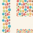 Royalty-Free Stock Vector Image: Smiley faces set of seamless patterns and borders