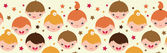 Smiling children horizontal seamless pattern background — Stock Vector
