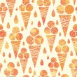 Summer ice cream cones seamless pattern background — Stock Vector