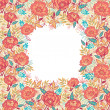 Colorful vibrant flowers frame border raster — Stock Photo