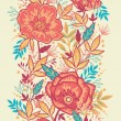 Colorful vibrant flowers vertical seamless pattern border raster — Stock Photo
