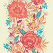 Colorful vibrant flowers vertical seamless pattern border raster — Stock Photo #21086057
