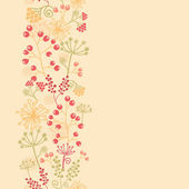 Summer berries vertical seamless pattern background border raster — Stock Photo