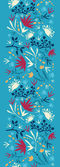 Painted abstract flowers and plants vertical seamless pattern raster — Stock Photo