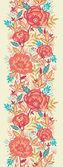 Flores de colores vibrantes de patrones sin fisuras verticales frontera raster — Foto de Stock
