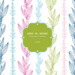 Royalty-Free Stock Vector Image: Floral stripes vertical frame seamless pattern background