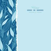 蓝竹叶被撕毁的方形无缝图案背景 — 图库矢量图片
