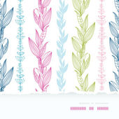 Floral stripes vertical horizontal torn seamless pattern background — Stock Vector