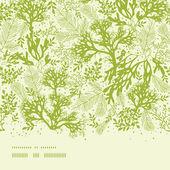 Green underwater seaweed horizontal seamless pattern background — Stock Vector