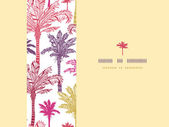 Palm trees seamless horizontal decor pattern background — Stock Vector