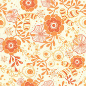 Golden florals seamless pattern background — Stock Vector