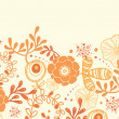 Royalty-Free Stock Vector Image: Golden florals horizontal border seamless pattern background