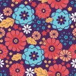 Royalty-Free Stock Vector Image: Colorful bouquet flowers seamless pattern background