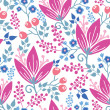 Royalty-Free Stock Vector Image: Pink flowers seamless pattern background