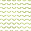 Green leaves chevron seamless pattern background — Stock Vector