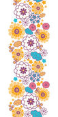Colorful oriental flowers vertical seamless pattern background — Stock Vector