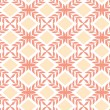 Peach orange argyle retro seamless pattern background - Stock Vector
