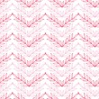 Stock Vector: Pink lineart leaves chevron seamless pattern background