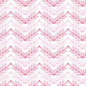 Pink lineart leaves chevron seamless pattern background — Stock Vector