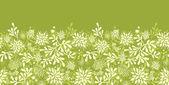 Green underwater plants horizontal seamless pattern background border — Stock Vector