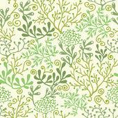 Underwater seaweed garden seamless pattern background — Stock Vector