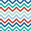 Stock Vector: Colorful ikat chevron seamless pattern background