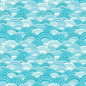 Abstract blue waves seamless pattern background — Stock Vector