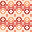 Royalty-Free Stock Vector Image: Golden ikat geometric seamless pattern background