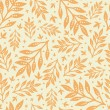 Golden leaves seamless pattern background — Stock Vector