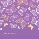 Night butterflies horizontal seamless pattern background template — Stock Vector