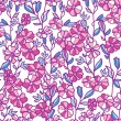 Vibrant field flowers seamless pattern background — Vettoriali Stock