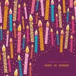 Vector colorido cumpleaños velas esquina marco fondo — Vector de stock