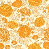Golden art flowers seamless pattern background — Stock Vector