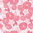 Soft pink and white florals seamless pattern background — Stock Vector