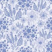 Evening garden seamless pattern background — Stock Vector