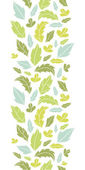 Leaves silhouettes vertical seamless pattern background — Stock Vector