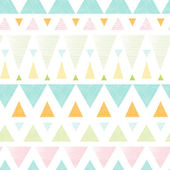 Abstract ikat triangles stripes seamless pattern background — Stock Vector