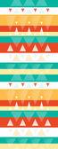 Vibrant ikat stripes vertical seamless pattern background — Stock Vector
