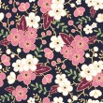 Night garden sakura blossoms seamless pattern background — Stock Vector