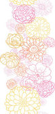 Wedding bouquet flowers vertical seamless pattern border — Vettoriale Stock