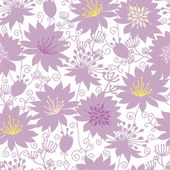Purple shadow florals seamless pattern background — Stock Vector