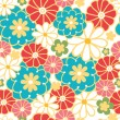 Camomiles seamless pattern background — Stok Vektör