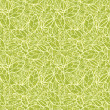 Green lace leaves seamless pattern background — Stock Vector