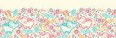 Olifanten met bloemen horizontale naadloze patroon achtergrond rand — Stockvector