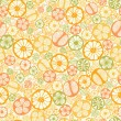 Citrus slices seamless pattern background — Stock Vector