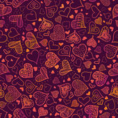 Valentine's Day Hearts Seamless Pattern Background — Vecteur