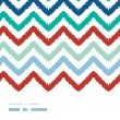 Stock Vector: Colorful ikat chevron frame horizontal seamless pattern background