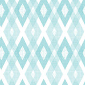 Pastel blue fabric ikat diamond seamless pattern background — Stock Vector