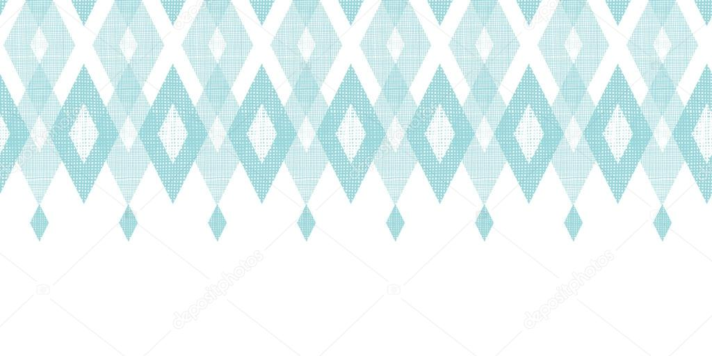 Pastel blue fabric ikat diamond horizontal seamless